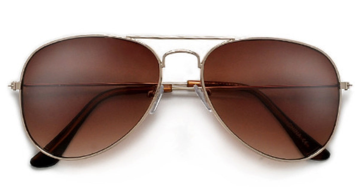 CLASSIC 58MM AVIATORS  SUNNIES + OPTICS TNEMNRODA nude- NRODA