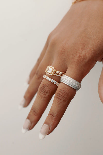 Stacked In Diamonds Ring  RINGS TNEMNRODAaccessories- NRODA