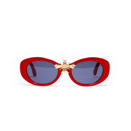 I'll Be Rich Forever in Mod Frame in Cherry Red cherry red SUNNIES + OPTICS TNEMNRODAsamplesale, sunglasses collection- NRODA