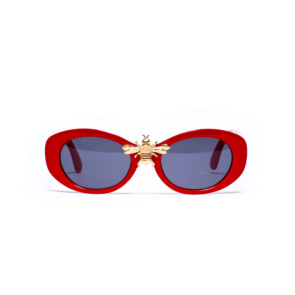 I'll Be Rich Forever in Mod Frame in Cherry Red  SUNNIES + OPTICS TNEMNRODAsamplesale, sunglasses collection- NRODA