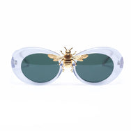 Migos Bee Clout Goggles in  Crystal Clear  SUNNIES + OPTICS Sunglasses Collection, Tnemnroda man- NRODA