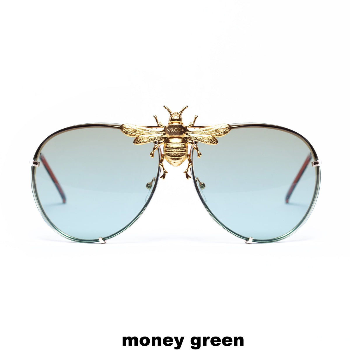 I'll Be Rich Forever Bee Sunglasses - Limited Sunset Edition Money Green SUNNIES + OPTICS Sunglasses Collection, Tnemnroda man- NRODA
