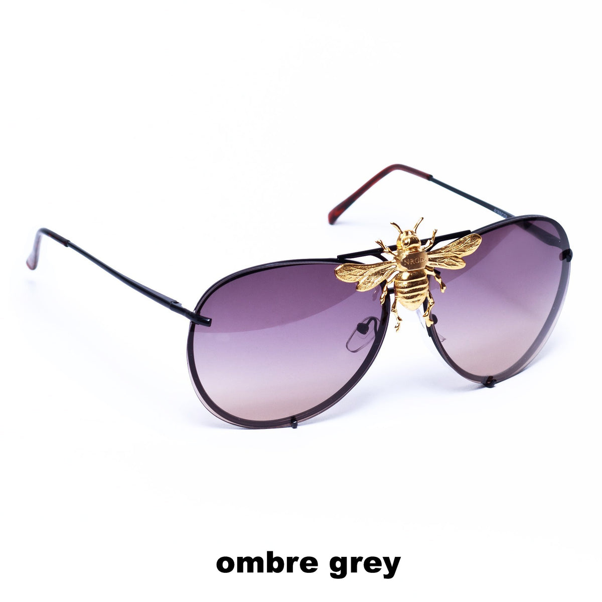 I'll Be Rich Forever Bee Sunglasses - Limited Sunset Edition Ombré Grey SUNNIES + OPTICS Sunglasses Collection, Tnemnroda man- NRODA