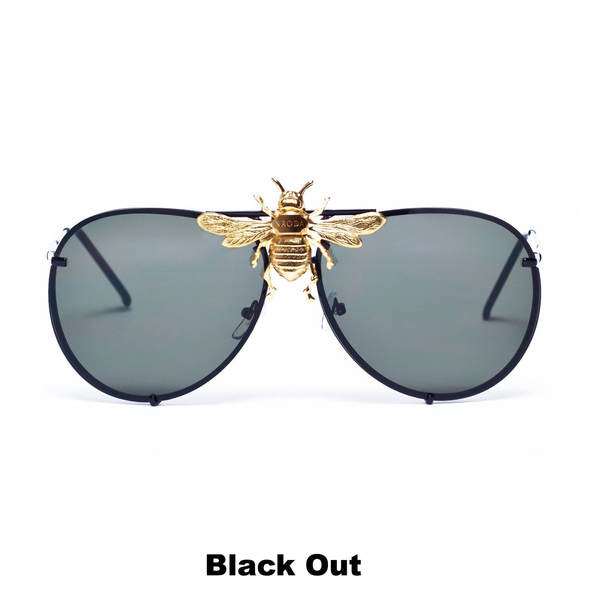 I'll Be Rich Forever Bee Sunglasses [Limited Black Out Edition] Black Out: Jet Lens/Jet frame SUNNIES + OPTICS Sunglasses Collection, Tnemnroda man- NRODA