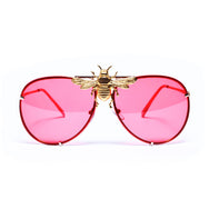 I'll Be Rich Forever Bee Sunglasses: Cherry Red Original  SUNNIES + OPTICS Sunglasses Collection- NRODA