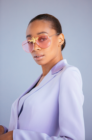 I'll Be Rich Forever Bee Sunglasses in Rose  SUNNIES + OPTICS Sunglasses Collection- NRODA