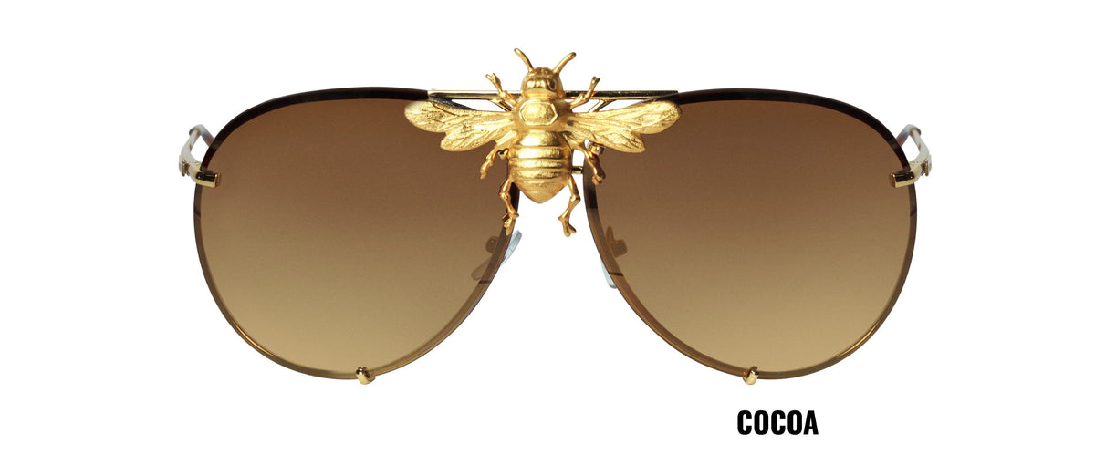 I'll Be Rich Forever Bee Sunglasses [Limited Black Out Edition] Cocoa SUNNIES + OPTICS Sunglasses Collection, Tnemnroda man- NRODA