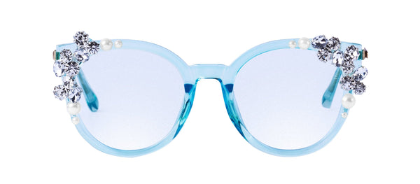 ROYALTY SUNNIES in Ice blue  SUNNIES + OPTICS Sunglasses Collection- NRODA