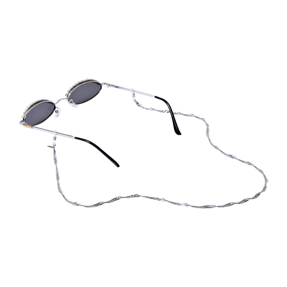 TWISTED SUNNIES CHAIN IN SILVER  SUNNIES CHAIN TNEMNRODA- NRODA