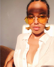 The Perfect Aviator - Cali Chrome Yellow Lens