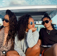 Angela Simmons in the Raise A Glass  SUNNIES + OPTICS Sunglasses Collection, Tnemnroda man- NRODA