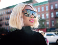 Voyeur sunnies in Jet Black  SUNNIES + OPTICS Sunglasses Collection- NRODA