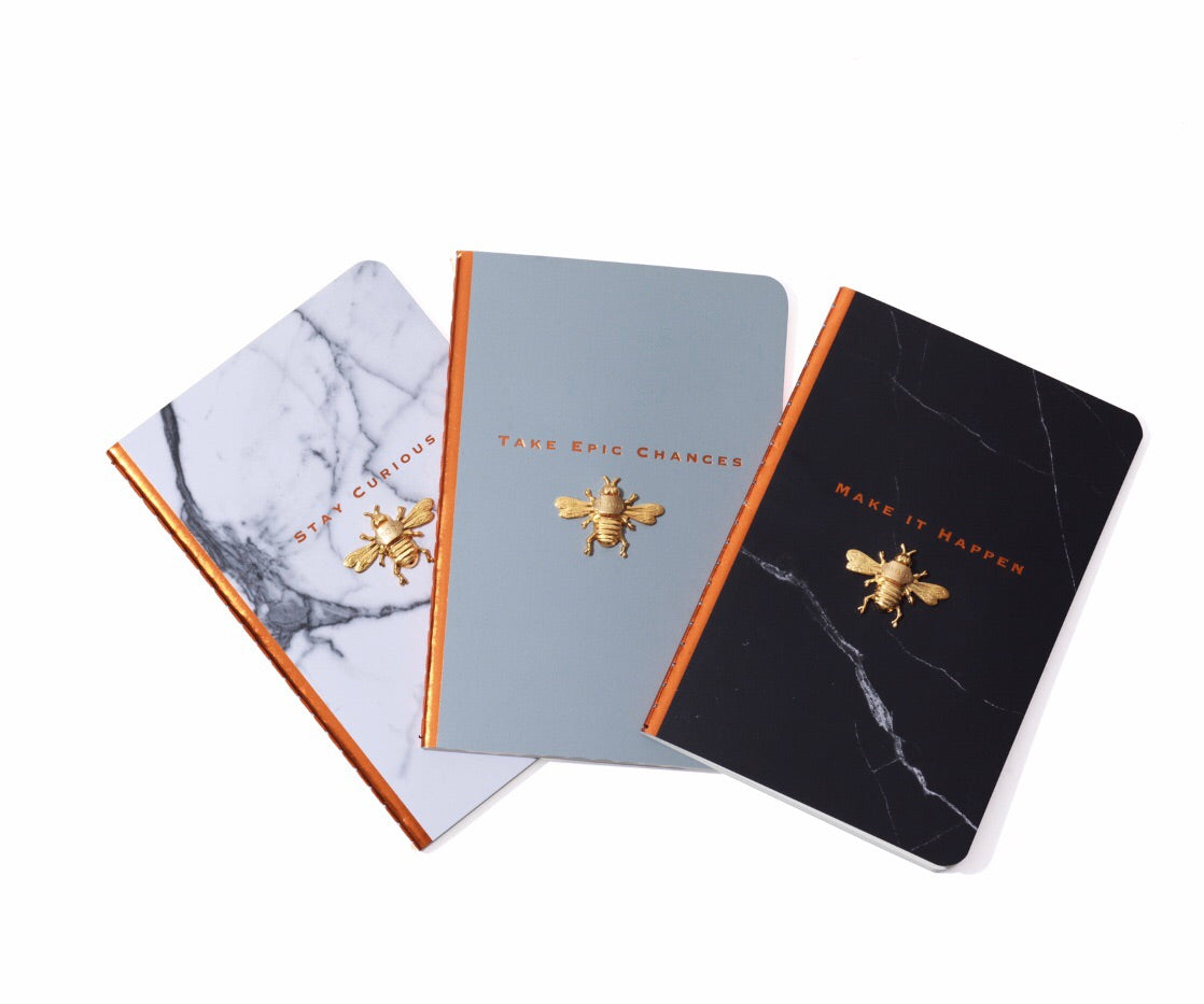 "Nroda Bee Gratitude Journal - ""Take Epic Chances"" Get All 3! notebook NRODA- NRODA"