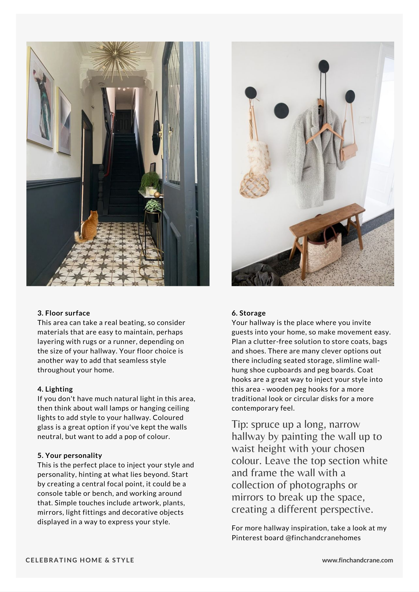 design your hallway in six easy steps