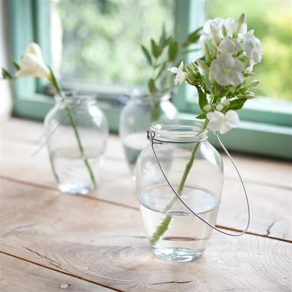 hanging glass jar