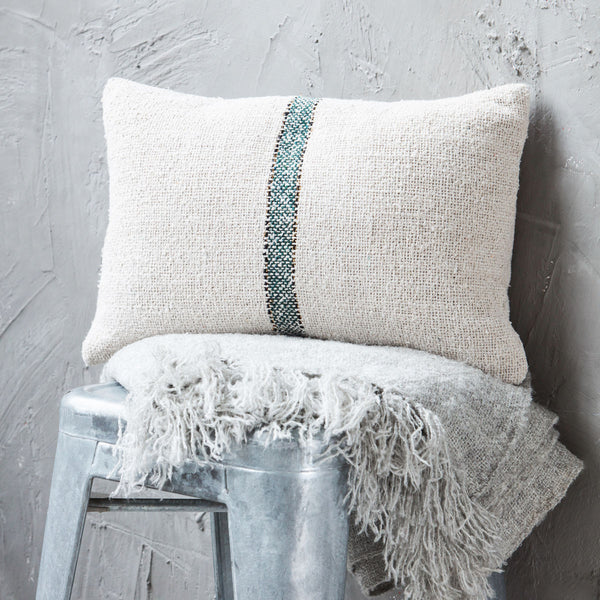 finch & crane. cotton weave stripe pillowcase