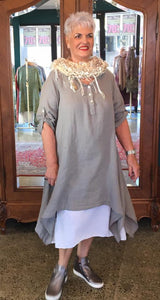Two piece Linen Tunic/Dress - Coffee