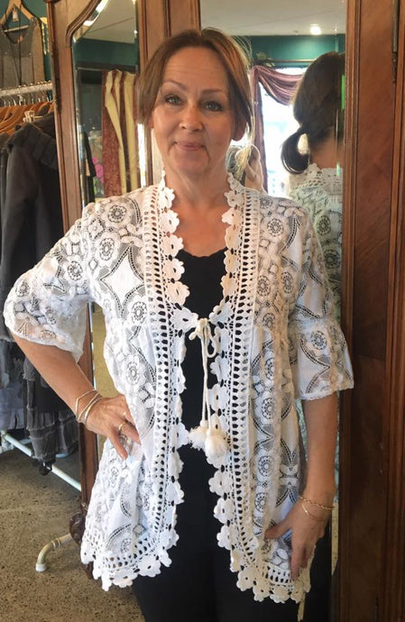 Cortona Cotton Lace Jacket -