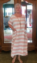 Load image into Gallery viewer, Bolonga - Casual soft cotton dress... lovely stripe.. large pockets
