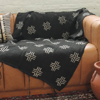 Style 2-Black and White Cotton Throw Blanket
