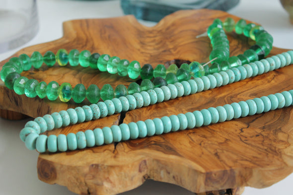 Handmade Turquoise Stone Sentimental Keepsake Handmade Decorative Bead Strand