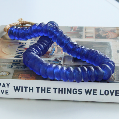 Handmade Cobalt Sentimental Keepsake Handmade Decorative Bead Strand