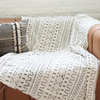 White Cotton & Black Geometric Design Handwoven Fabric Textile Mudcloth Throw - Regular Size