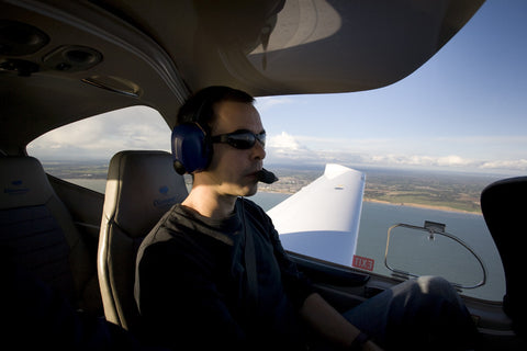 Basic Six owner, Anthony, flying a Diamondstar DA-40