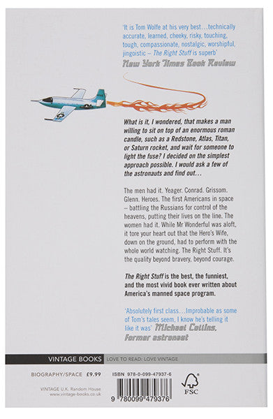 The Right Stuff - Tom Wolfe - Back Cover