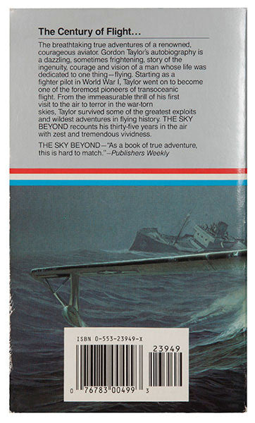 The Sky Beyond - Sir Gordon Taylor - Rear Cover