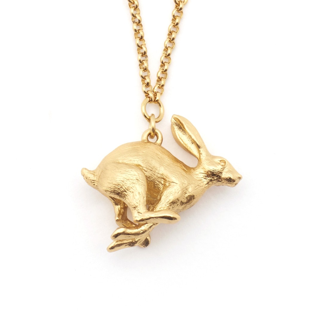 Running Hare Pendant Necklace
