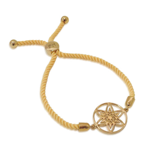 Daffodil Medallion Friendship Bracelet