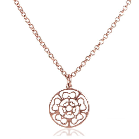 Rose Medallion Necklace