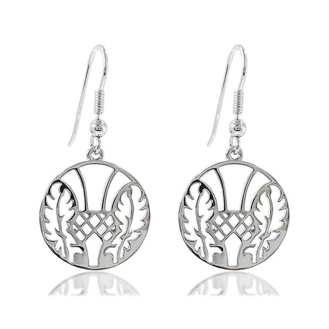 Thistle Medallion Earrings
