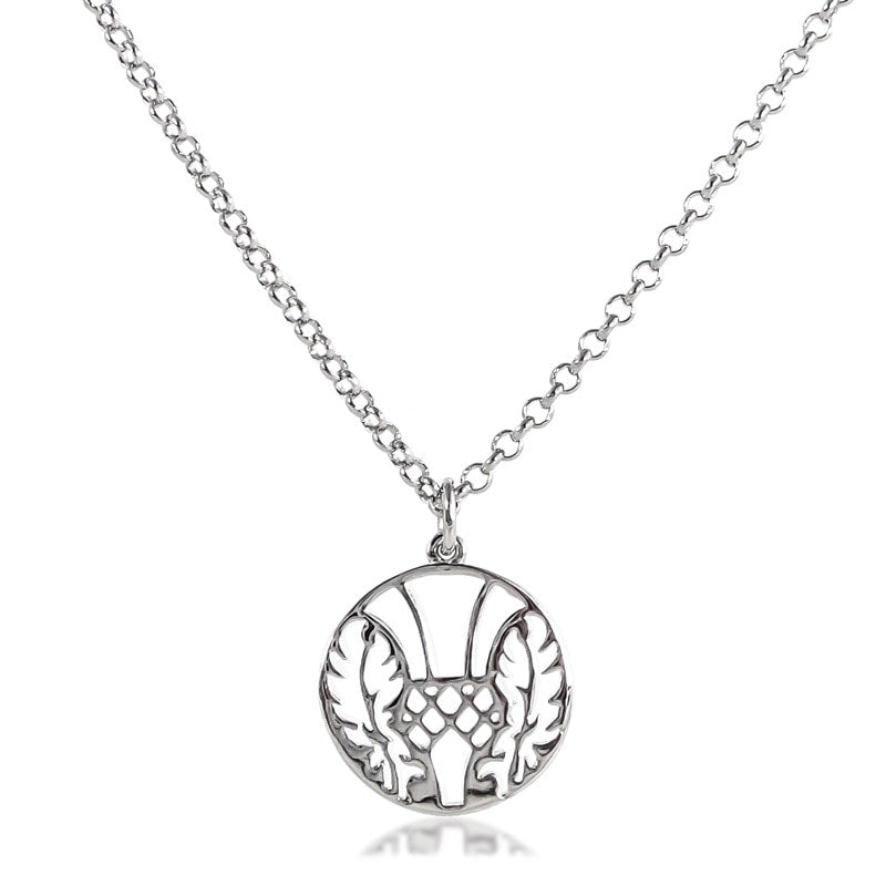 Thistle Medallion Necklace