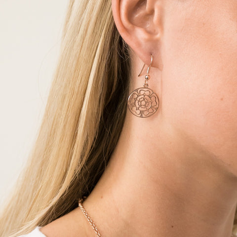 Rose Medallion Earrings