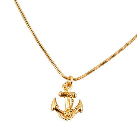 Anchor Gold Charm Necklace