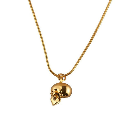 Skull Gold Charm Necklace