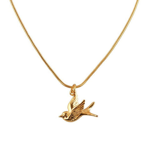 Swallow Gold Charm Necklace