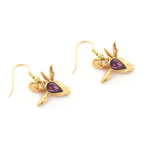 Mini Antelope Charm Earrings