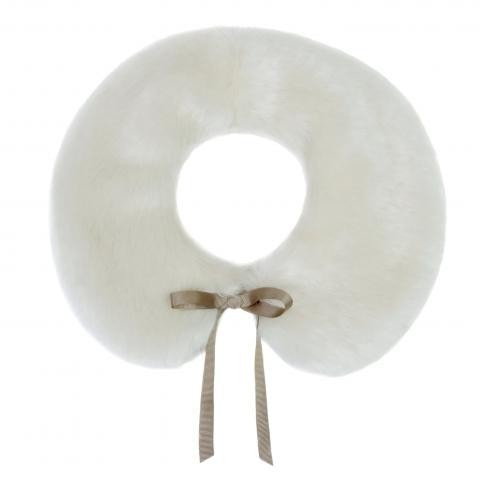 Ermine White Faux Fur Peter Pan Collar