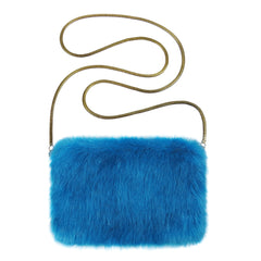Kingfisher Faux Fur Chain Bag