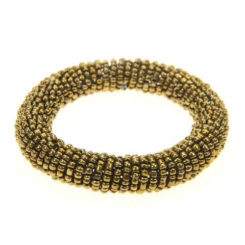 Orbital Gold Stretch Bead Bracelet
