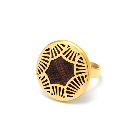 Fan Gold Ring