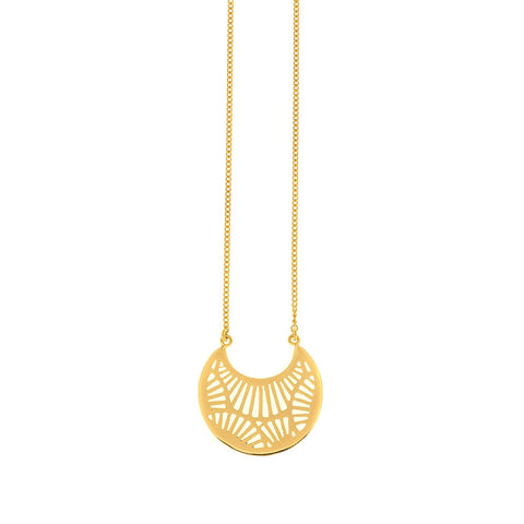 Fan Gold Necklace
