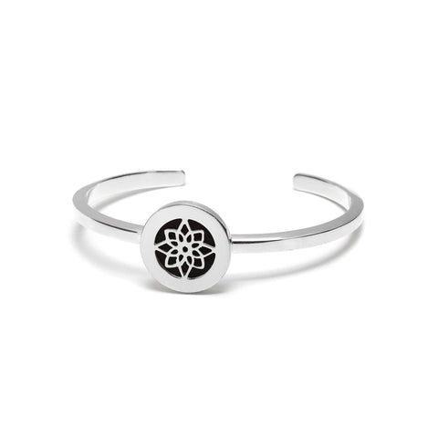 Lotus Flower Silver Bangle