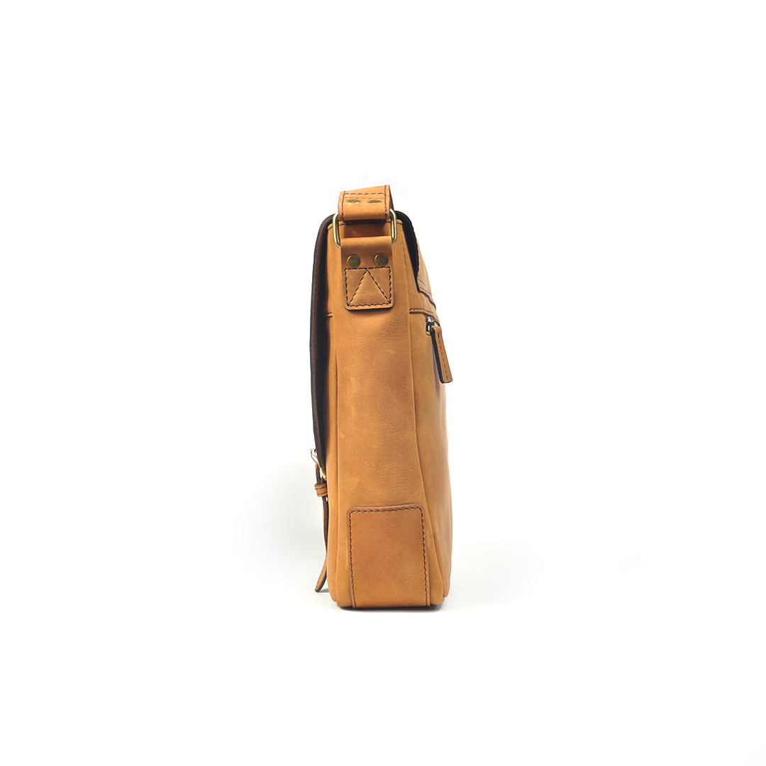 Terrier Light Messenger Bag in Tan - wiesnwitz