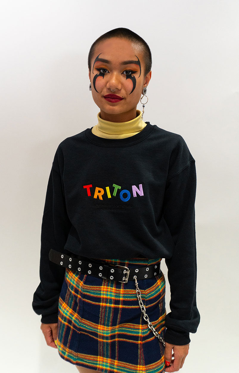 Technicolor Rainbow Triton Sweater