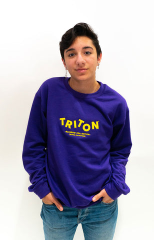 Purple Rainbow Triton Sweater