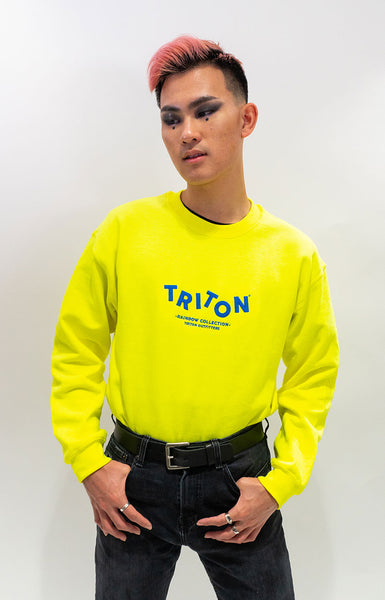 Yellow Rainbow Triton Sweater